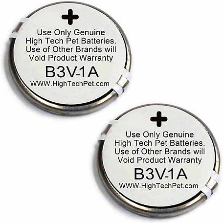 High Tech Pet B-3V1A MS-4 and MS-5 Collar Battery, Pack of 2