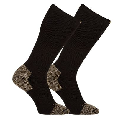 Carhartt Men's Steel Toe Work Boot Socks; Pack of 2