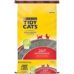 Shop Tidy Cats 50 lb 24/7 Performance Non-Clumping Cat Litter at Tractor Supply Co.