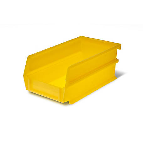 LocBin Yellow Stacking, Hanging, Interlocking Polypropylene Bin, 7-3/8 in. L x 4-1/8 in. W x 3 in. H, Pack of 24