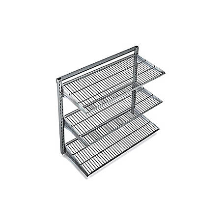 Storability Wall Mount Shelving Unit with 3 Steel Wire Shelves