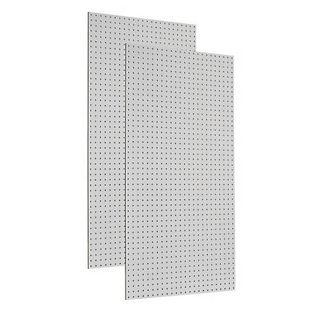 Tempered Wood Custom Painted Blissful White Heavy-Duty Pegboard