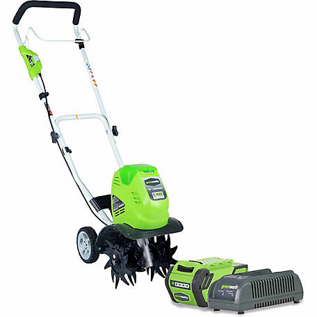 Greenworks 27062 G-MAX 40V 10 in. Cordless Cultivator