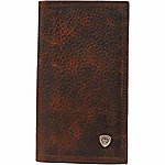 Ariat Leather Rodeo Wallet with Ariat Concho, Brown 'Rowdy'