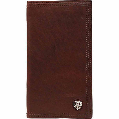 Ariat Leather Rodeo Wallet with Ariat Concho, Dark Copper
