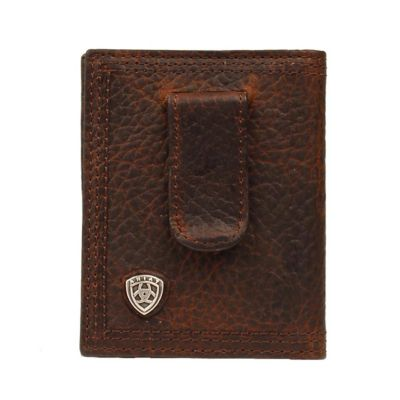 Buy Ariat Bifold Money Clip Wallet; Brown ''Rowdy'' Online