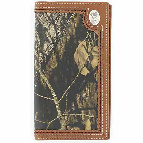 Nocona Leather Rodeo Wallet with Deerhead Concho