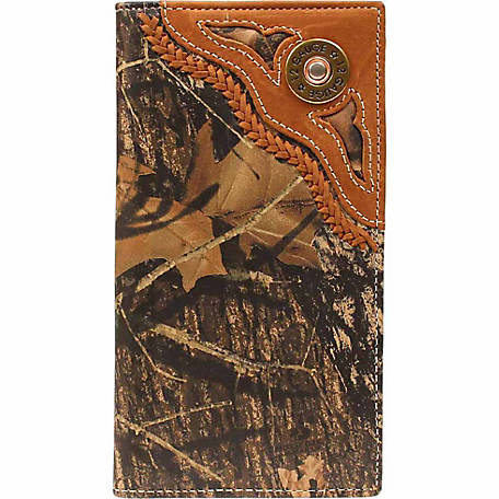 Nocona Leather Rodeo Wallet with 12-Gauge Concho