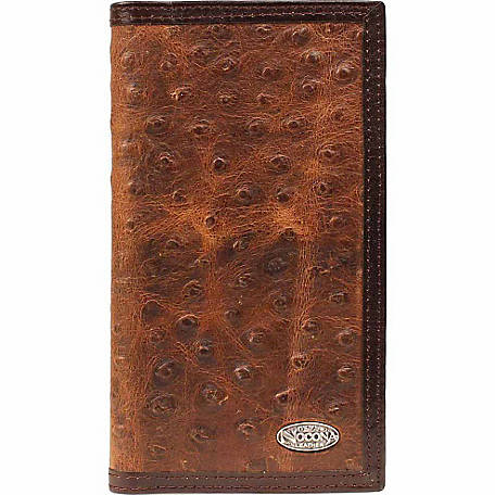 Nocona Ostrich Print Leather Rodeo Wallet