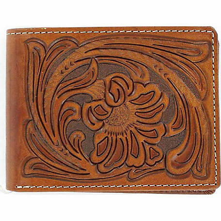 Nocona Embossed Leather Bifold Wallet with Removable Passcase