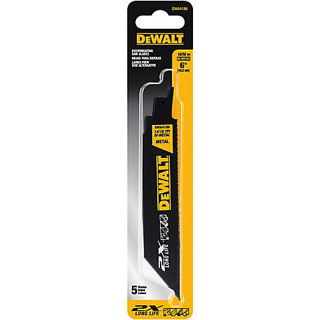 DeWALT 6 in. 14/18 TPI 2X Bi-Metal Reciprocating Saw Blade
