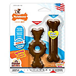 Nylabone Power Chew Ring Bone & Puppy Chew Bone Twin Pack, Petite