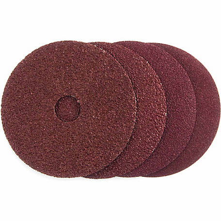 Mibro 4-1/2 in. Fiber Sanding Disc, Assorted Grit, Pack of 4