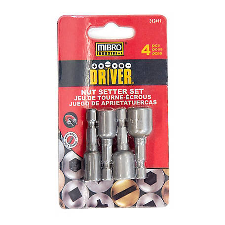 Mibro 4 pc. Magnetic Nut Setter Set, 312411