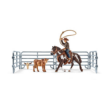 Schleich Team Roping with Cowboy Playset