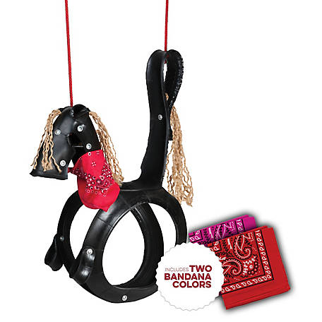M&M Sales Enterprises Pony Pal Tire Swing with Bandana, MM00136