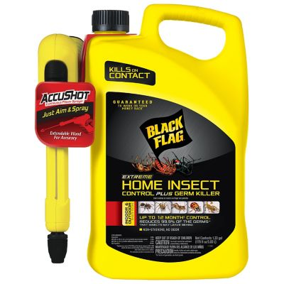 Black Flag Extreme Home Insect Control Plus Germ Killer; AccuShot Ready to Use Spray; 1.33 gal.