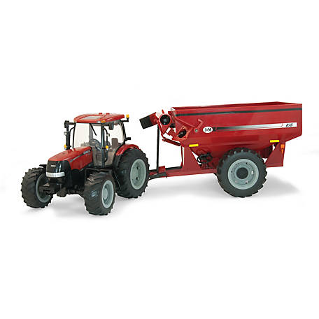 Case 1:16 Big Farm 180 w/ J and M Grain Cart