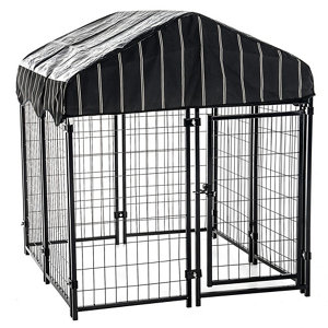Lucky Dog Pet Resort Kennel With Cover 52 In H X 4 Ft W