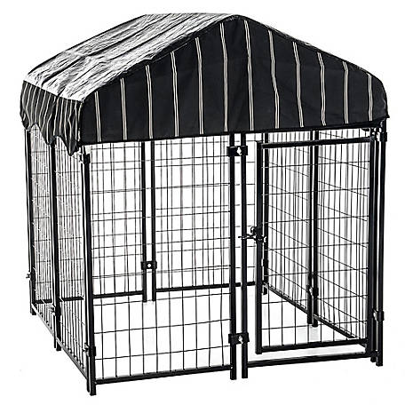 Lucky Dog Pet Resort Kennel with Cover, 52 in. H x 4 ft. W x 4 ft. L, CL 60445