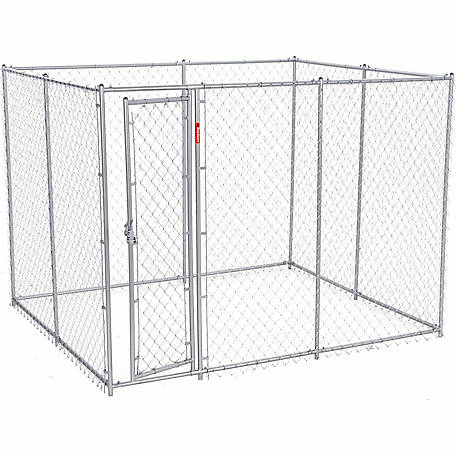 Lucky Dog 2-in-1 Galvanized Chain Link Dog Kennel Kit, 6 ft. H x 5 ft. W x 10 or 6 ft. H x 8 ft. W x 6.5 ft. L