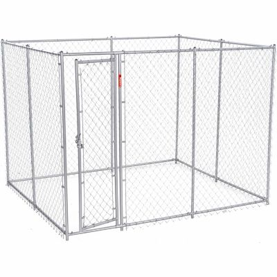 Lucky Dog 2 In 1 Galvanized Chain Link Dog Kennel Kit 6 Ft H X 5 Ft W X 10 Or 6 Ft H X 8 Ft W X 6 5 Ft L At Tractor Supply Co