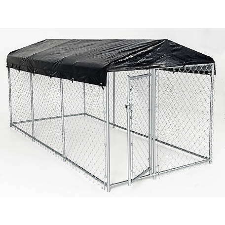 Lucky Dog Weatherguard Kennel Cover Set, 5 ft. W x 15 ft. L