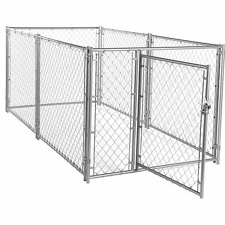 Lucky Dog Modular Chain Link Kennel Kit, 4 ft. H x 5 ft. W x 10 ft. L