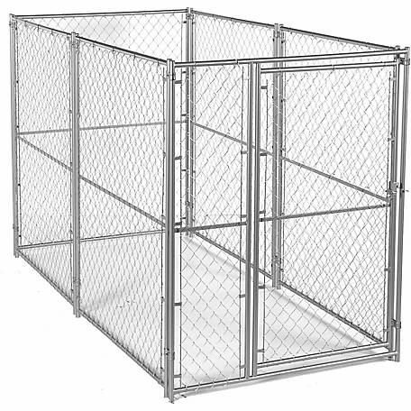 Lucky Dog Modular Chain Link Kennel Kit, 6 ft. H x 5 ft. W x 10 ft. L