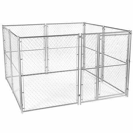 Lucky Dog Modular Chain Link Kennel Kit, 6 ft. H x 10 ft. W x 10 ft. L