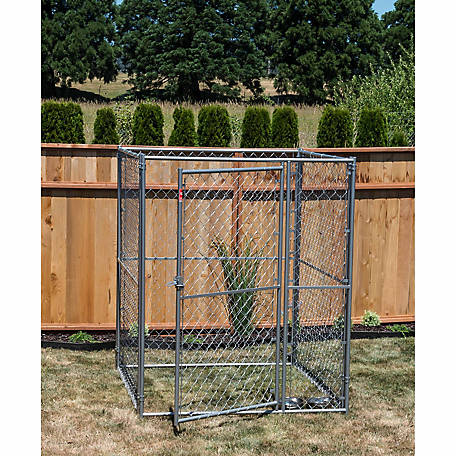 Lucky Dog Modular Chain Link Kennel Kit, 6 ft. H x 5 ft. W x 5 ft. L