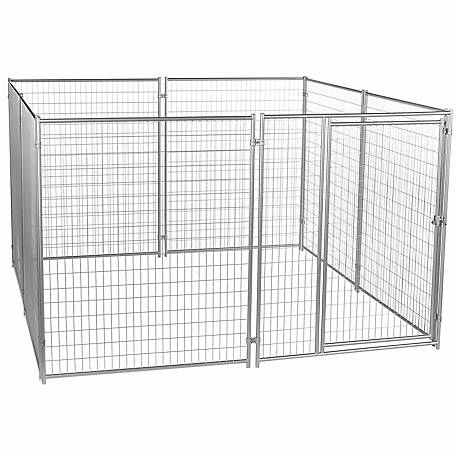 Lucky Dog Modular Welded Wire Kennel Kit, 6 ft. H x 10 ft. W x 10 ft. L, Silver