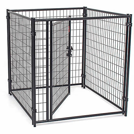 Lucky Dog Modular Welded Wire Kennel Kit, 4 ft. H x 4 ft. W x 4 ft. L, Black