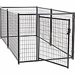 Lucky Dog Modular Welded Wire Kennel Kit, 4 ft. H x 5 ft. W x 10 ft. L, Black