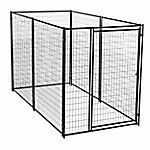 Lucky Dog Modular Welded Wire Kennel Kit, 6 ft. H x 5 ft. W x 10 ft. L, Black