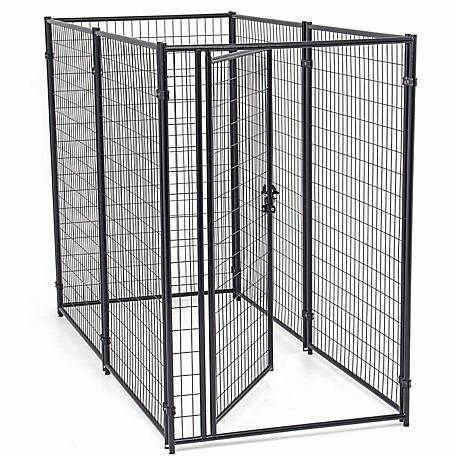Lucky Dog Modular Welded Wire Kennel Kit, 6 ft. H x 4 ft. W x 8 ft. L, Black