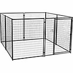 Lucky Dog Modular Welded Wire Kennel Kit, 6 ft. H x 10 ft. W x 10 ft. L, Black