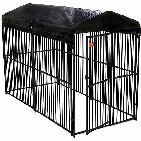 Lucky Dog European Style Kennel with Cover, 6 ft. H x 5 ft. W x 10 ft. L