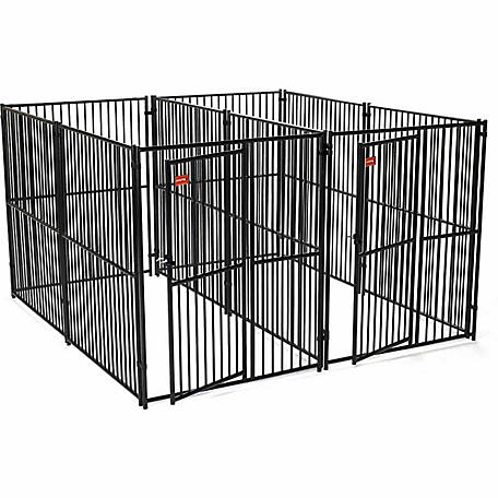 Lucky Dog European Style 2-Run Kennel with Common Wall,6 ft. H x 5 ft. W x 10 ft. L