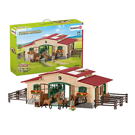 Schleich Stable with Horses and Accessories, 42195