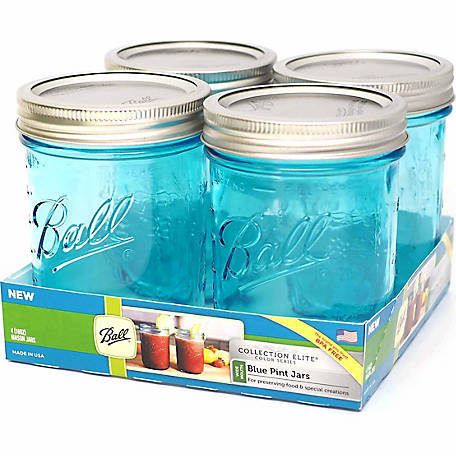 Ball Collection Elite Color Series Jars 1-Pint, 4-Pack