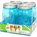 Ball Collection Elite Color Series Jars 1-Qt, 4-Pack