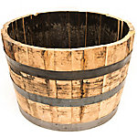 Half Oak Whiskey Barrel Planter