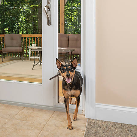 Petsafe Freedom Aluminum Patio Panel Sliding Glass Pet Door 96 In