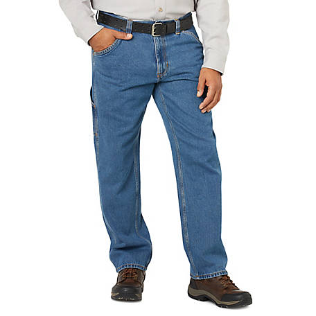 Blue Mountain Men's Denim Utility Jeans, Regular Fit