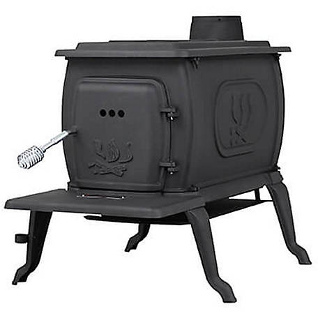 Us Stove Cast Iron Logwood Wood With Legs 1 600 Sq Ft 2469e At Tractor Supply Co