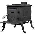 US Stove Cast Iron Logwood Wood Stove with Legs, 1,600 sq. ft.