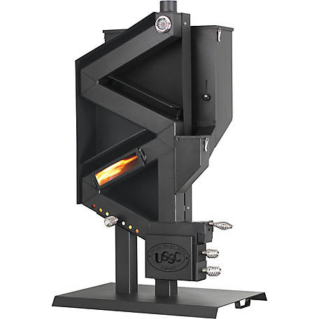 US Stove Gravity Feed Non-Electric Wiseway Pellet Stove, 2,000 sq. ft., GW1949