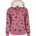 C.E. Schmidt Women's Horse Print Sherpa-Lined Zip-Up Hooded Sweatshirt