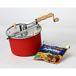 Wabash Valley Farms Original Whirley-Pop with Real Theater Popcorn All-Inclusive Popping Kit, Barn Red